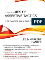 Theories of Assertive Tactics Lee Canter