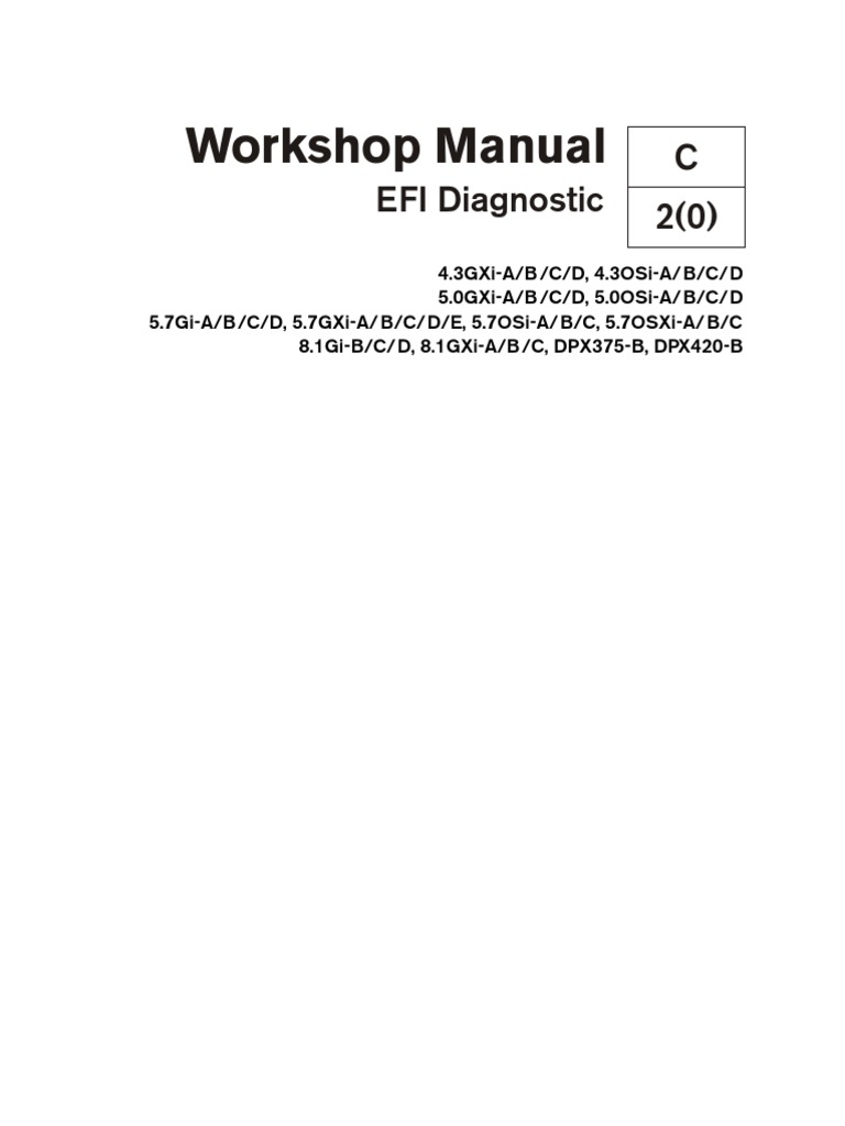 volvo penta workshop manual efi diagnostic electrical connector rh scribd com 8.1 Volvo Penta Engine Block Volvo Penta 5.0 Engine Diagram