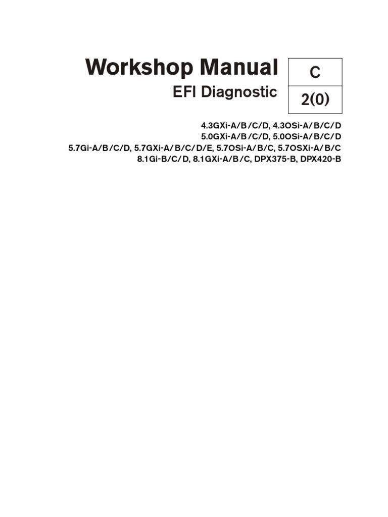 volvo penta workshop manual efi diagnostic electrical connector rh scribd com Volvo Penta SX Impeller Replacement Volvo Penta Engine