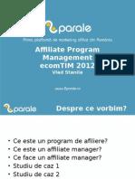 Affiliate Program Management EcomTIM 2012
