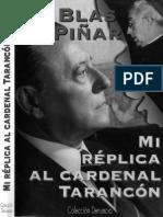 Piñar, Blas - Mi Réplica Al Cardenal Tarancón (Scan)