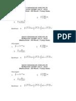 Quiz II Kalkulus II Kelas 23 Dan 29
