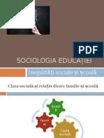 Inegalitati Sociale Si Scoala