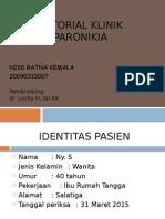Tutorial Klinik Paronikia
