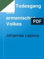 Der Todesgang Des Armenischen Volkes (Johannes Lepsius, 1919)