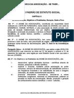 Modelo de Estatuto e Lista de Documentos Pra Ser Associado a Abps