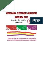 Programa Municipal IU /Ezkerra (Burlada) 2015