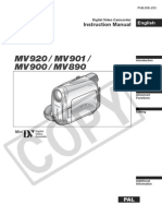 CANON MV920 USERS MANUAL