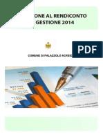 Relazione Al Rendiconto Di Gestione 2014 (D.lgs.77-95)