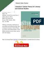 How to Interpret Literature Critical Robert Dale 15620467
