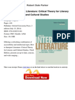 How to Interpret Literature Critical Robert Dale 15620467