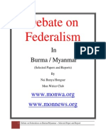 Federalism in Burma (Debate) Nov 2012