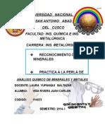 Tercer Informe de Hierro,,,, Preparacion de Pelets Verdes (1)