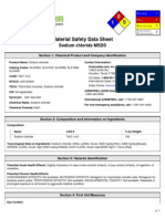 MSDS NACL