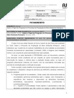 FICHAMENTO - Sobre o Papel Do Programa No Processo de Projetação Do Meio Ambiente Antrópico