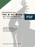 Me & My Bass Guitar (Bass Transcription) - Victor Wooten