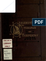 The Elementary Principles of Carpentry