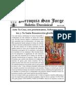 Boletin Dominical 15 de Marzo de 2015