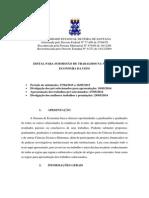 Edital - VI Semana de Economia - Uefs