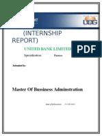 Internship Report UBL