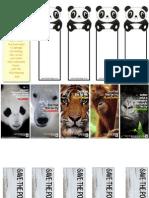 Endangered Species Book Mark