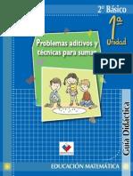 Guía didáctica matemáticas 2° básico con fichas