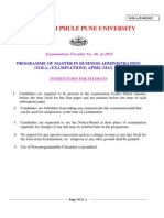 MBA Exam Apr May 2015