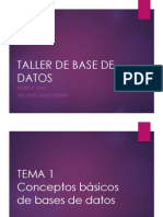 Tema1 - ModelamientoBasesDatos