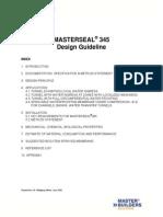 MASTERSEAL 345 Design Guideline 2009