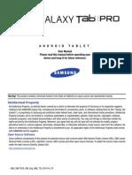 Gen Sm-t520 Galaxy Tab Pro Kk English User Manual Nae f4 Ac