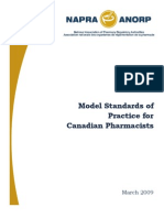 Model Standards of Practise for Canadian Pharmacist