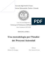 De Giuseppe Roberto Analisi Processi Aziendali