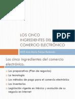 Los 5 ingredientes del Comercio Electrónico