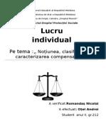 Noțiunea, clasificarea și caracterizarea compensațiilor