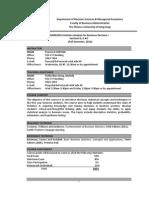 Course Outline DSME2010