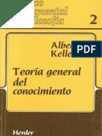 Albert Keller - Teoria General Del Conocimiento