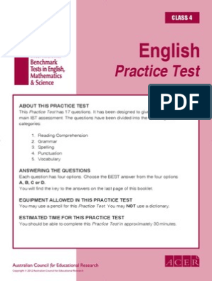 Bestseller: Grade 4 English Exam Papers With Answers