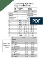 Bell Schedule 1.6.15