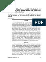 Biosintesis Biopolimer Poli(3-Hidroksibutirat) Campuran Minyak Kelapa Sawit Dan 2-Butanol Sebagai Sumber Karbon