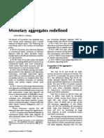 Monetary aggregates redefined