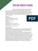 Practica de Acidos y Bases