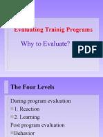 Evaluating Training Program