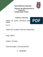 Credito y Cobranza Unidad 1