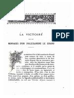 La Victoire Sur Las Monnaies d'or d'Alexandre Le Grand