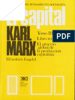 El Capital Tomo III Vol 8 Karl Marx