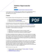 Síndrome Diabético Hiperosmolar Hiperglucémico Por Edgardo