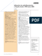 Evolución de La Utilización de Antiinflamatorios