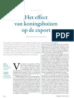 Dijkstra Overvest Effect Koningshuizen Op Exporten