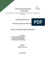 Valores y Cualidades Del Ing Mecatronico (1)