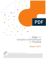 MESR Etat de l'Emploi Scientifique en France (2014)